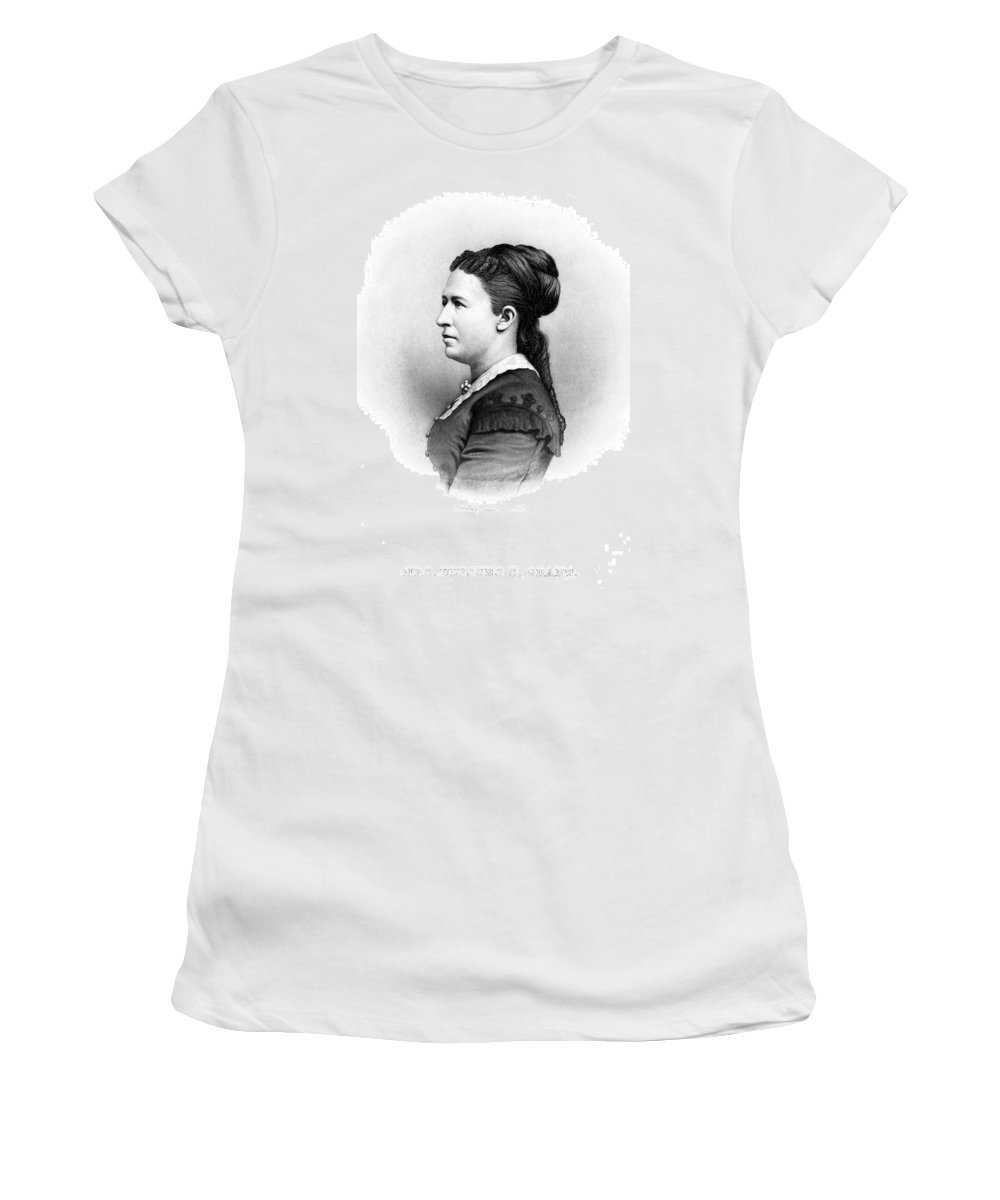 1880 Women's T-Shirt (Athletic Fit) featuring the painting Julia Dent Grant (1826-1902) by Granger