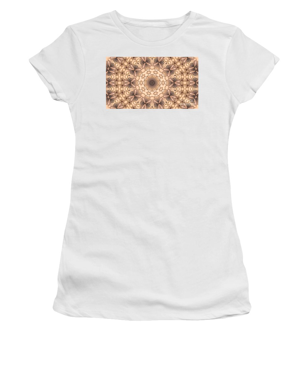 Kaleidoscope Women's T-Shirt featuring the digital art Kaleidoscope 44 by Ron Bissett
