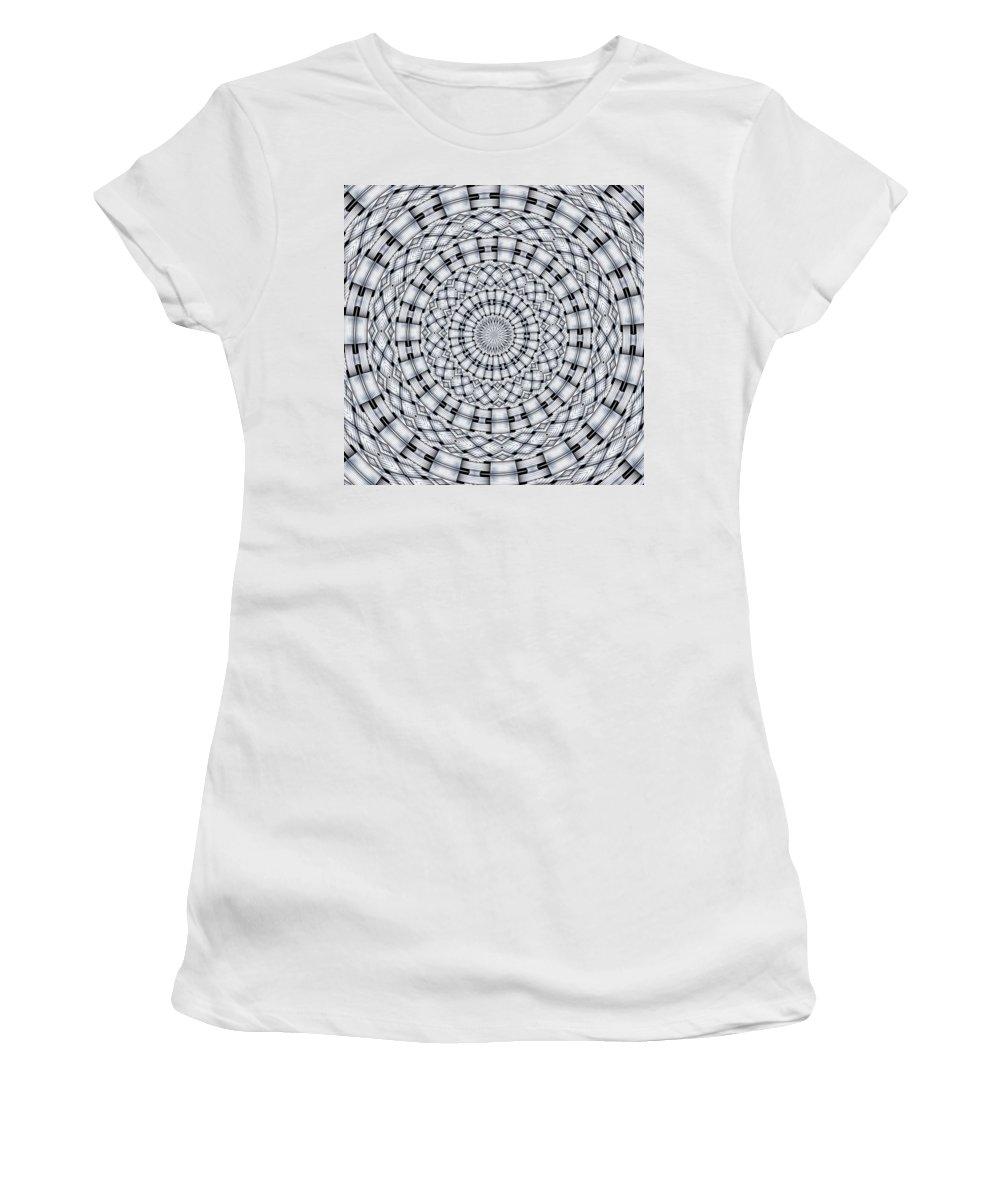 Kaleidoscope Women's T-Shirt featuring the digital art Kaleidoscope 9 by Ron Bissett