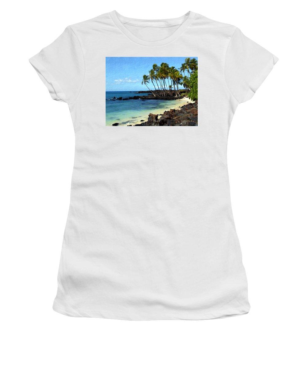 Hawaii Women's T-Shirt (Athletic Fit) featuring the photograph Kekaha Kai II by Kurt Van Wagner
