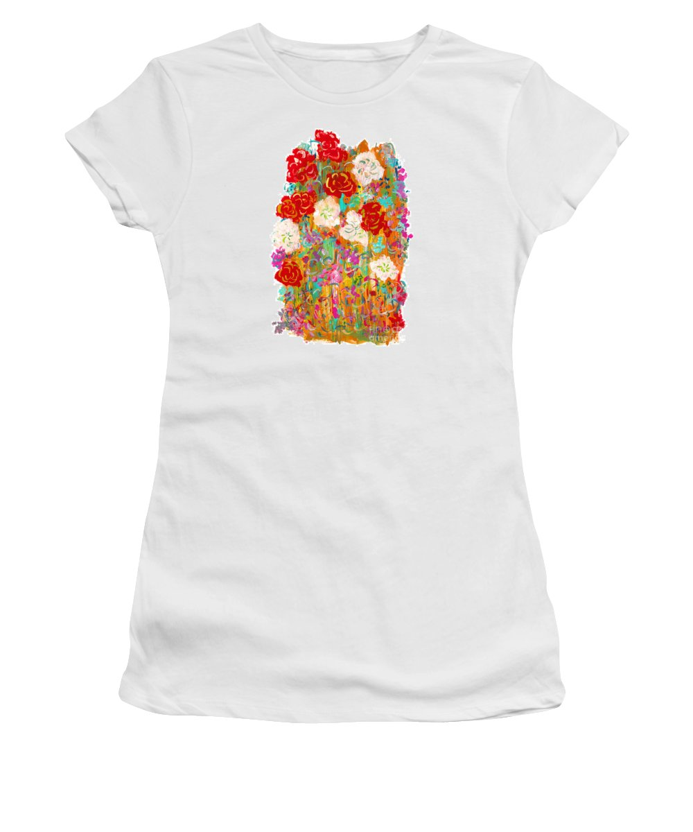 Contemporary Women's T-Shirt featuring the painting Kimono by Bjorn Sjogren