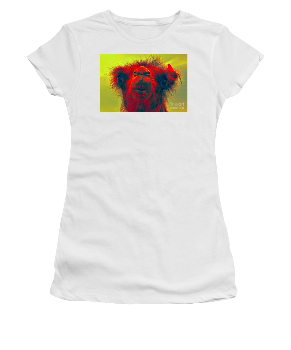 Women's T-Shirt (Athletic Fit) featuring the photograph Kiss by Karla Weber