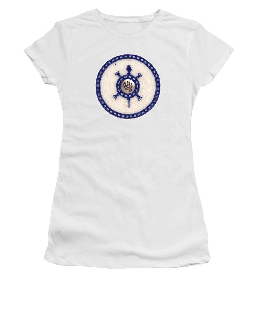 Beadwork Women's T-Shirt featuring the mixed media Lady Polars by Douglas K Limon