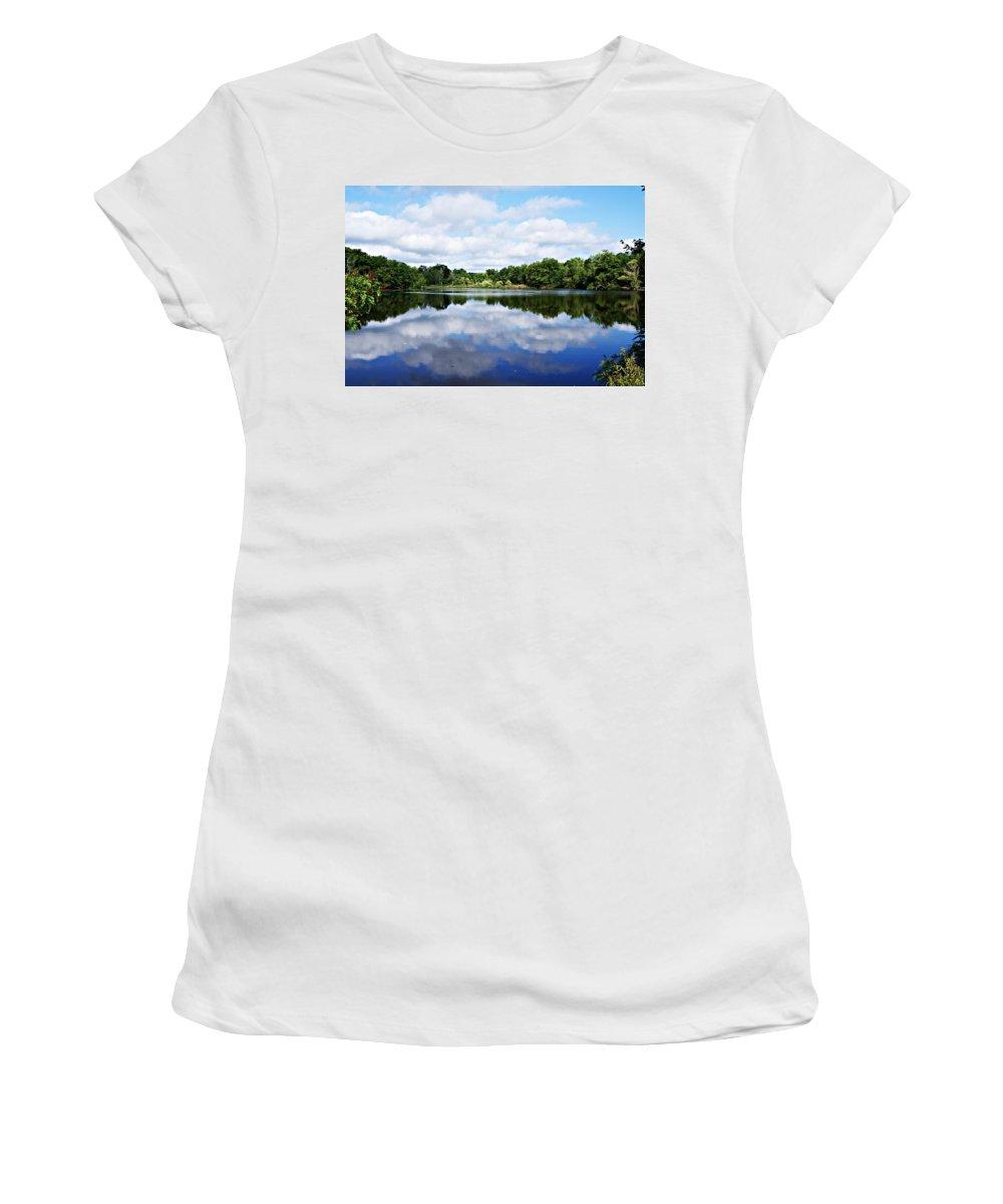 Lagoon Women's T-Shirt featuring the photograph Lagoon IIi by Joe Faherty