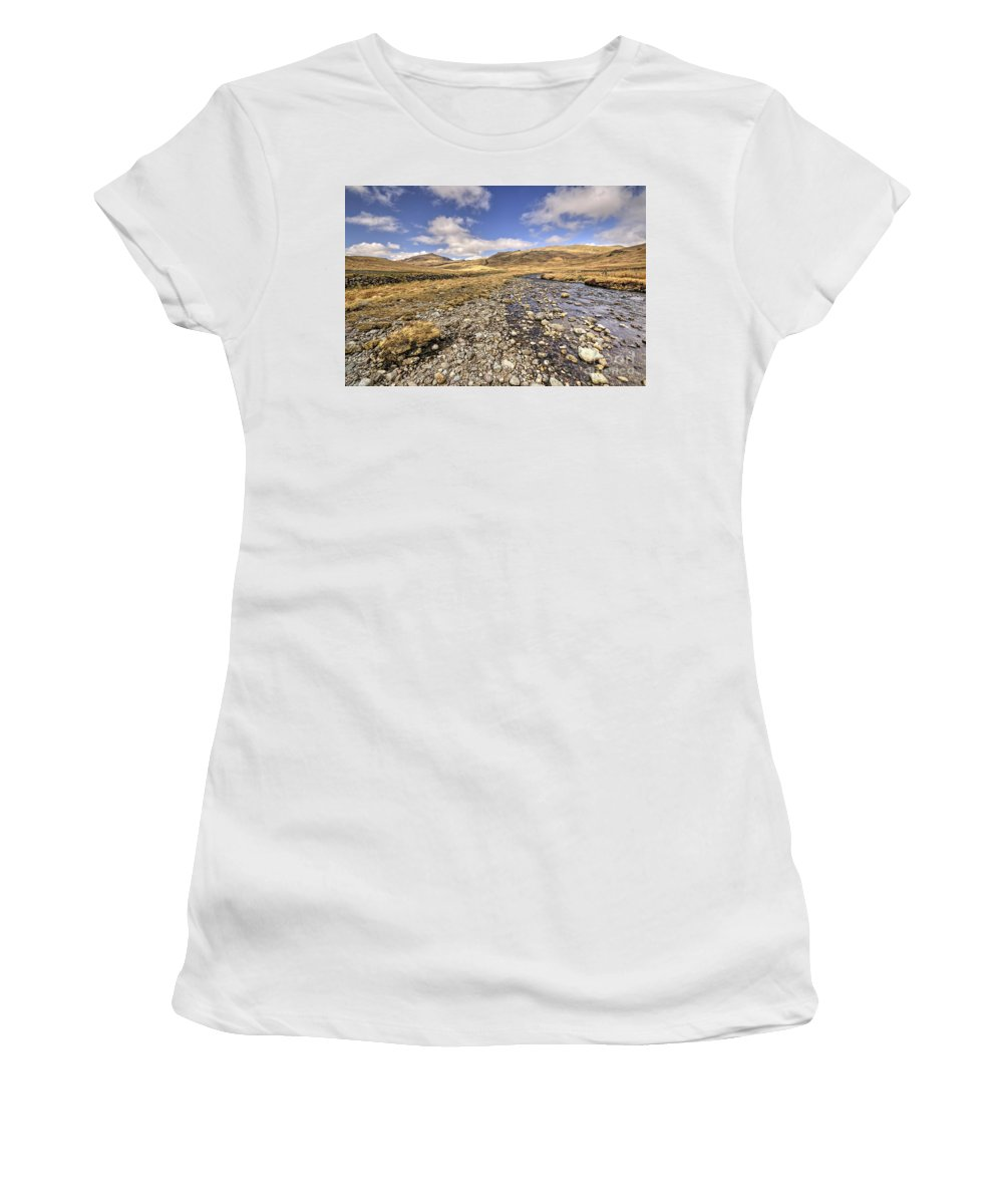 Lake Women's T-Shirt (Athletic Fit) featuring the photograph Lakeland Vista by Rob Hawkins