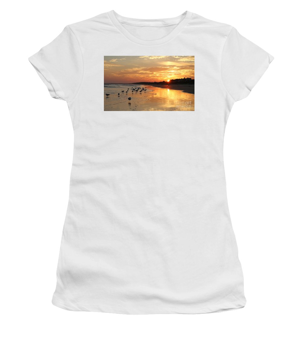 Sunset Women's T-Shirt (Athletic Fit) featuring the photograph Last Rays by Kevin McCarthy