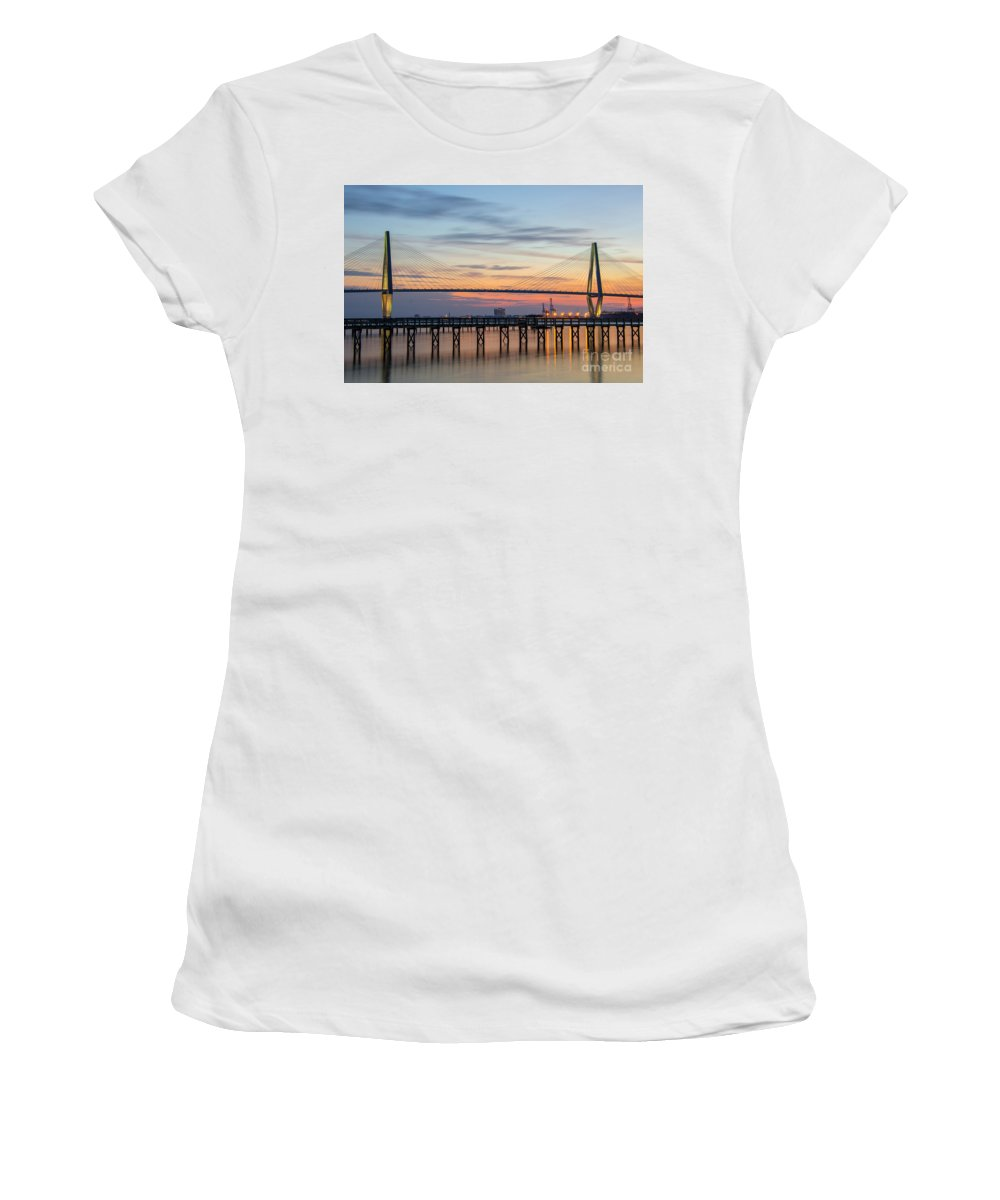 Sunset Women's T-Shirt (Athletic Fit) featuring the photograph Lasting Impressions by Dale Powell