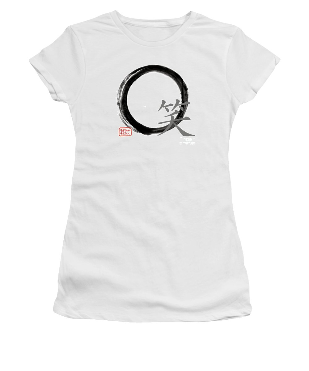Live Women's T-Shirt featuring the painting Laugh - Zen Enso by To-Tam Gerwe