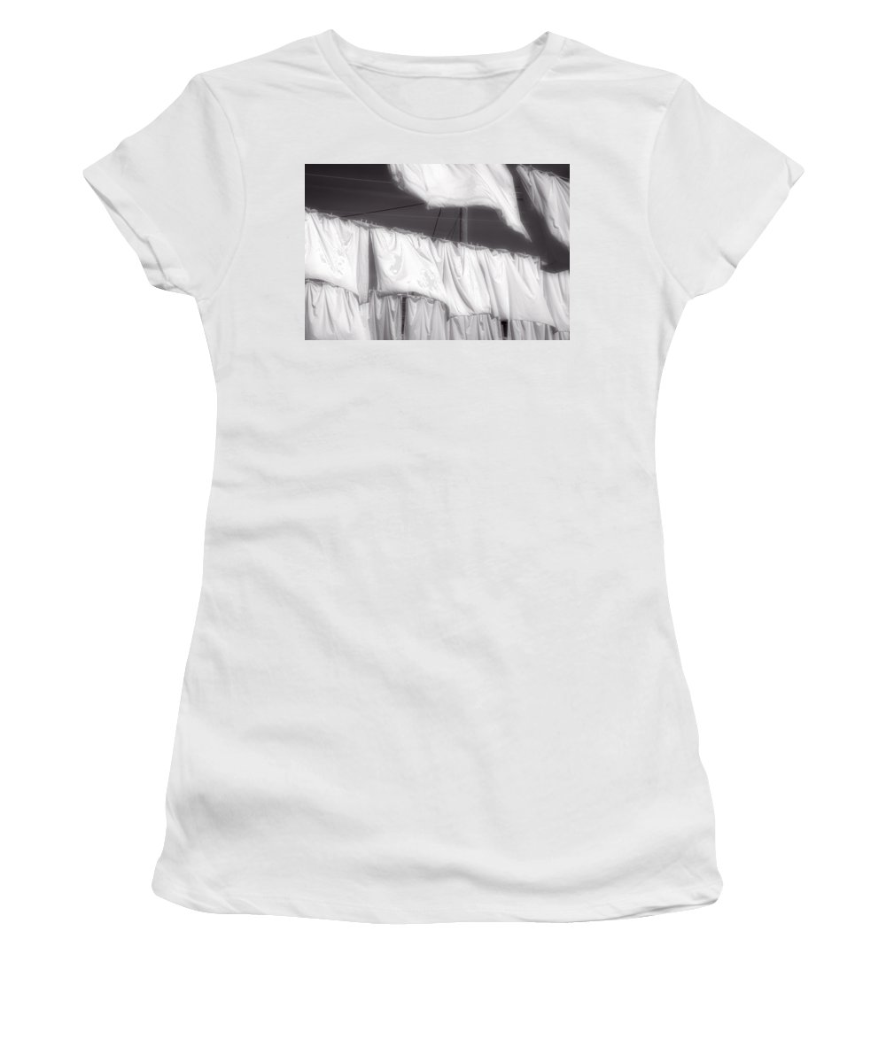 Newfoundland Women's T-Shirt (Athletic Fit) featuring the photograph Laundry Day by David Stone