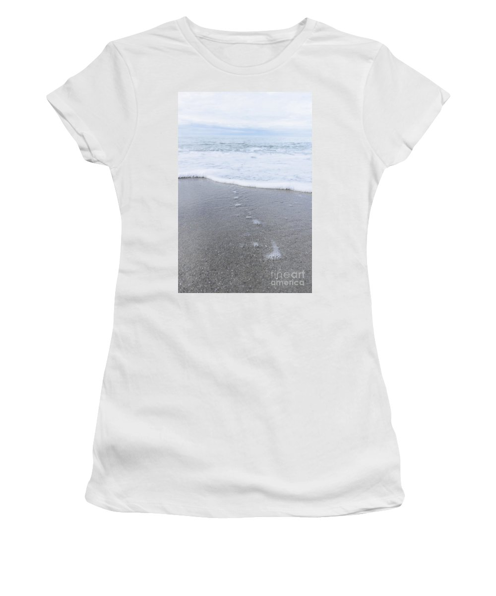 Alone Women's T-Shirt (Athletic Fit) featuring the photograph Leading To The Sea by Margie Hurwich
