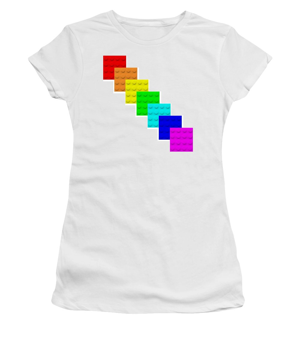 Lego Women's T-Shirt featuring the photograph Lego Box White by Rob Hans