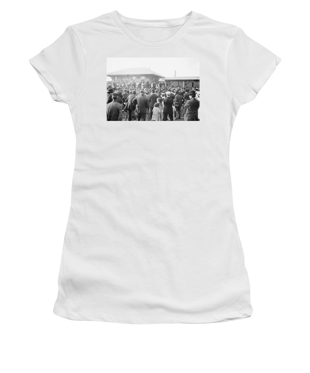 1908 Women's T-Shirt (Athletic Fit) featuring the photograph Lewis Stuyvesant Chanler (1869-1942) by Granger