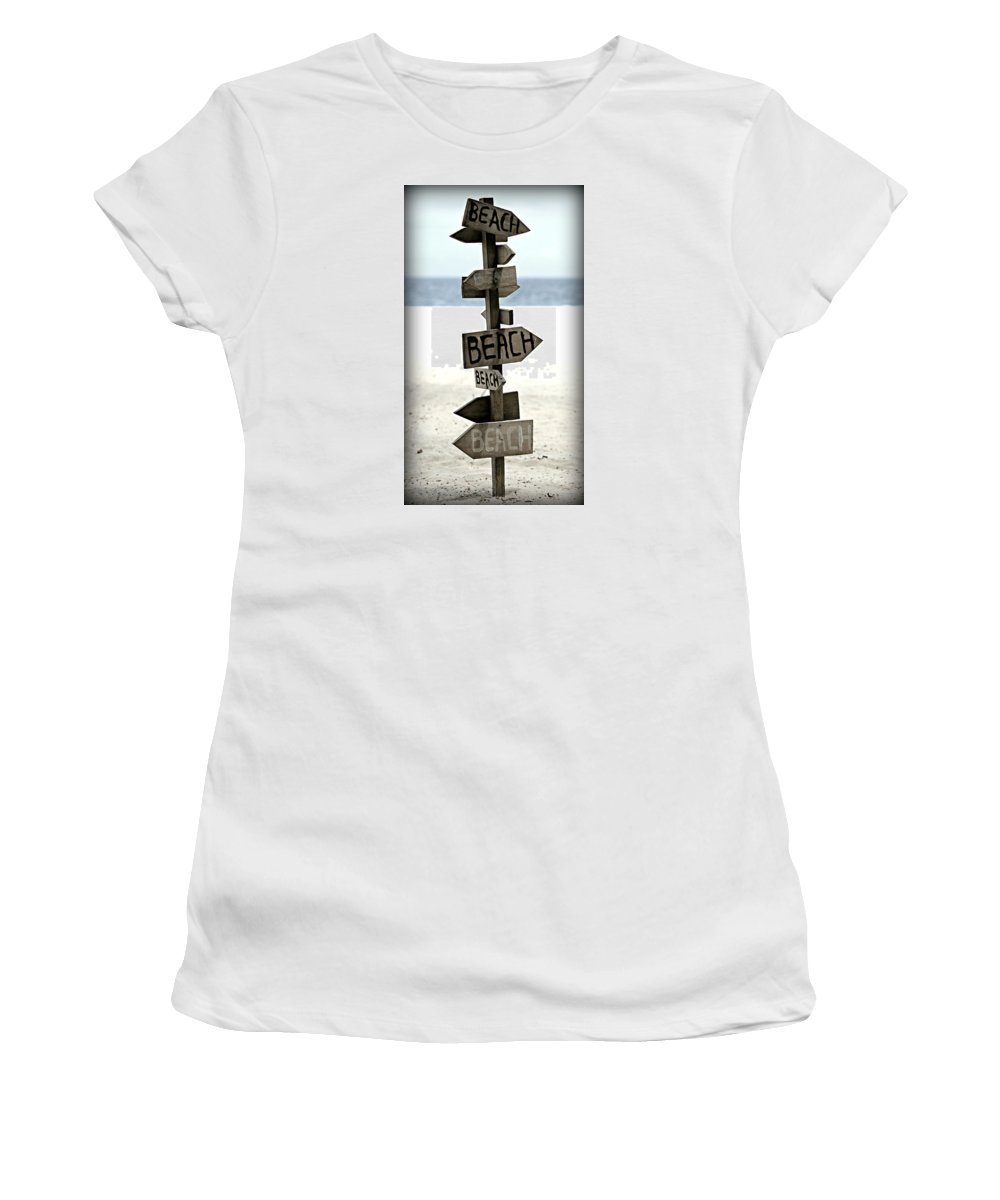 Beach Women's T-Shirt featuring the photograph Life's A Beach by Stephen Stookey