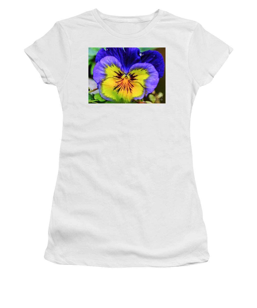 Landscape Women's T-Shirt (Athletic Fit) featuring the photograph Lightburst by Elvis Vaughn