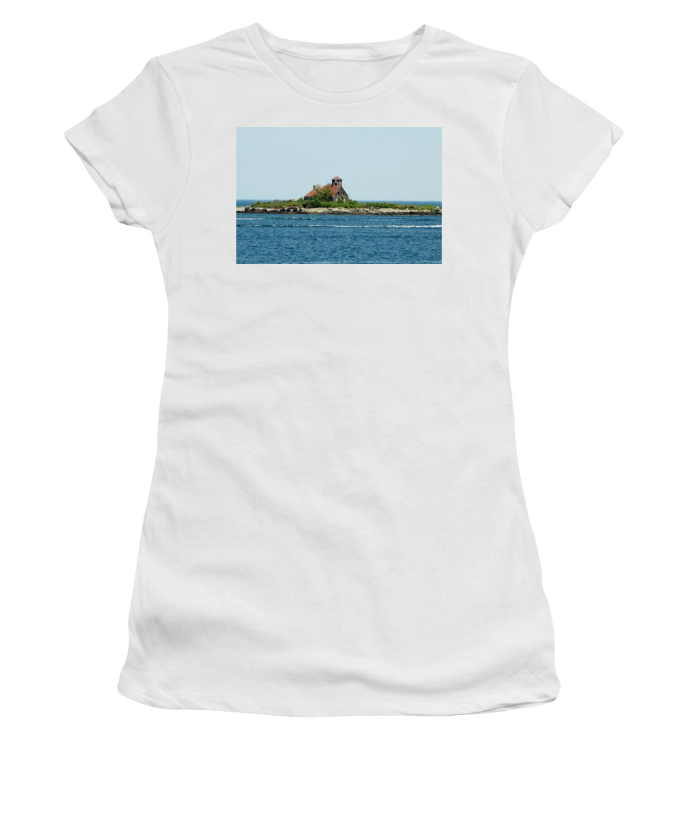 Women's T-Shirt featuring the photograph Lighthouse Keepers Residence by Barbara S Nickerson
