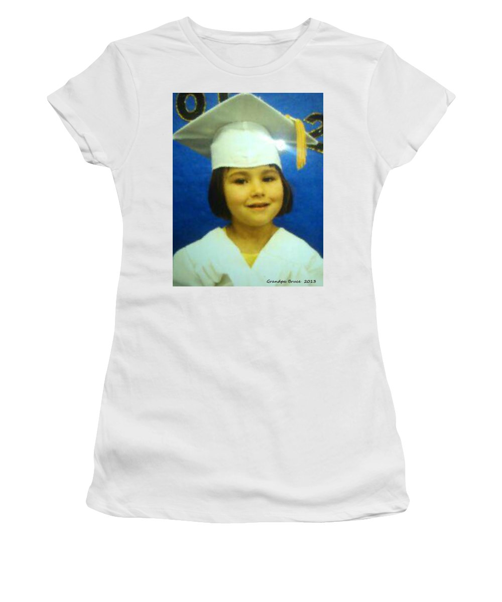 Lilli Women's T-Shirt featuring the painting Lilli My Granddaughter by Bruce Nutting