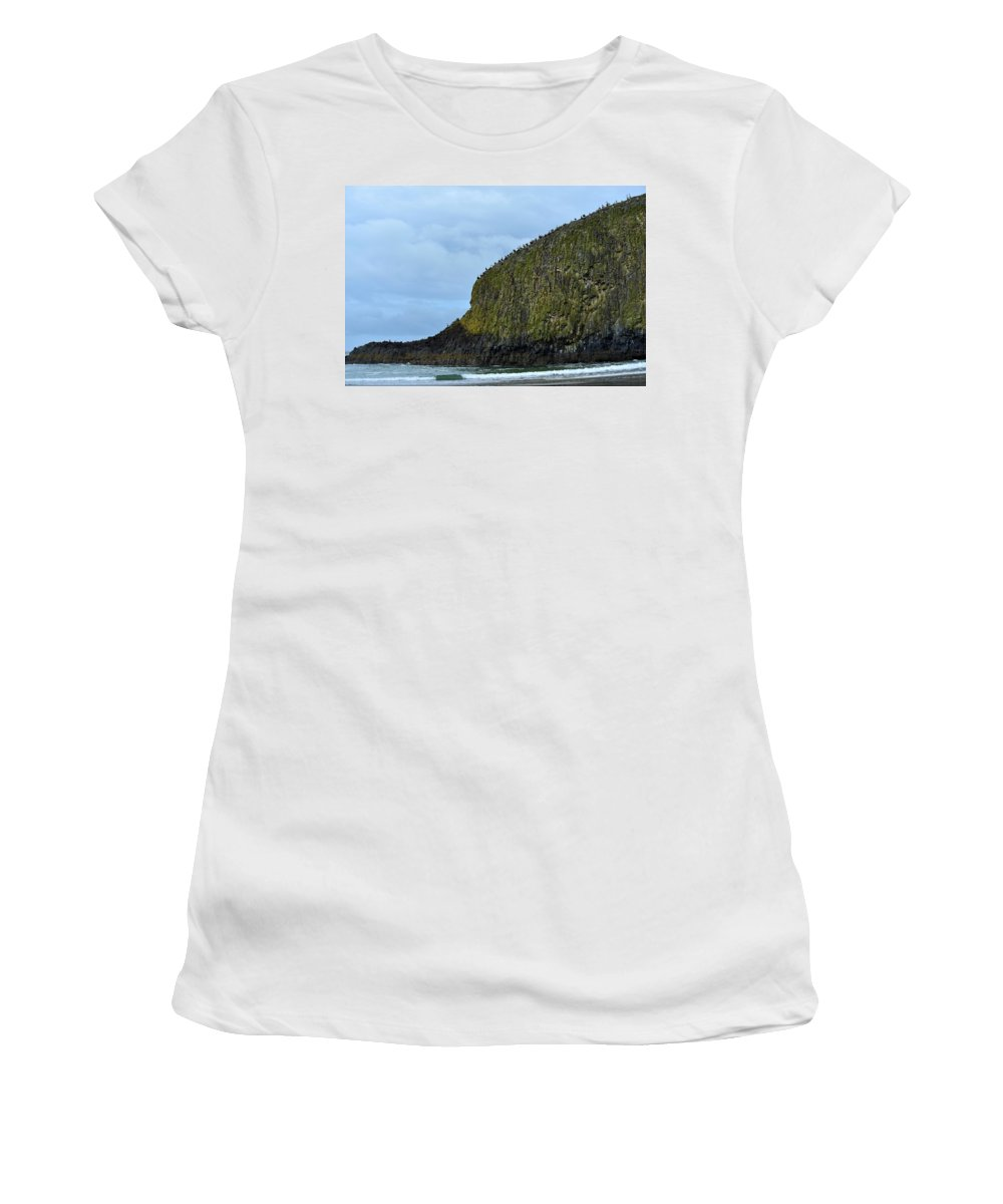 Seal Rock Women's T-Shirt (Athletic Fit) featuring the photograph Line Up by Image Takers Photography LLC - Carol Haddon