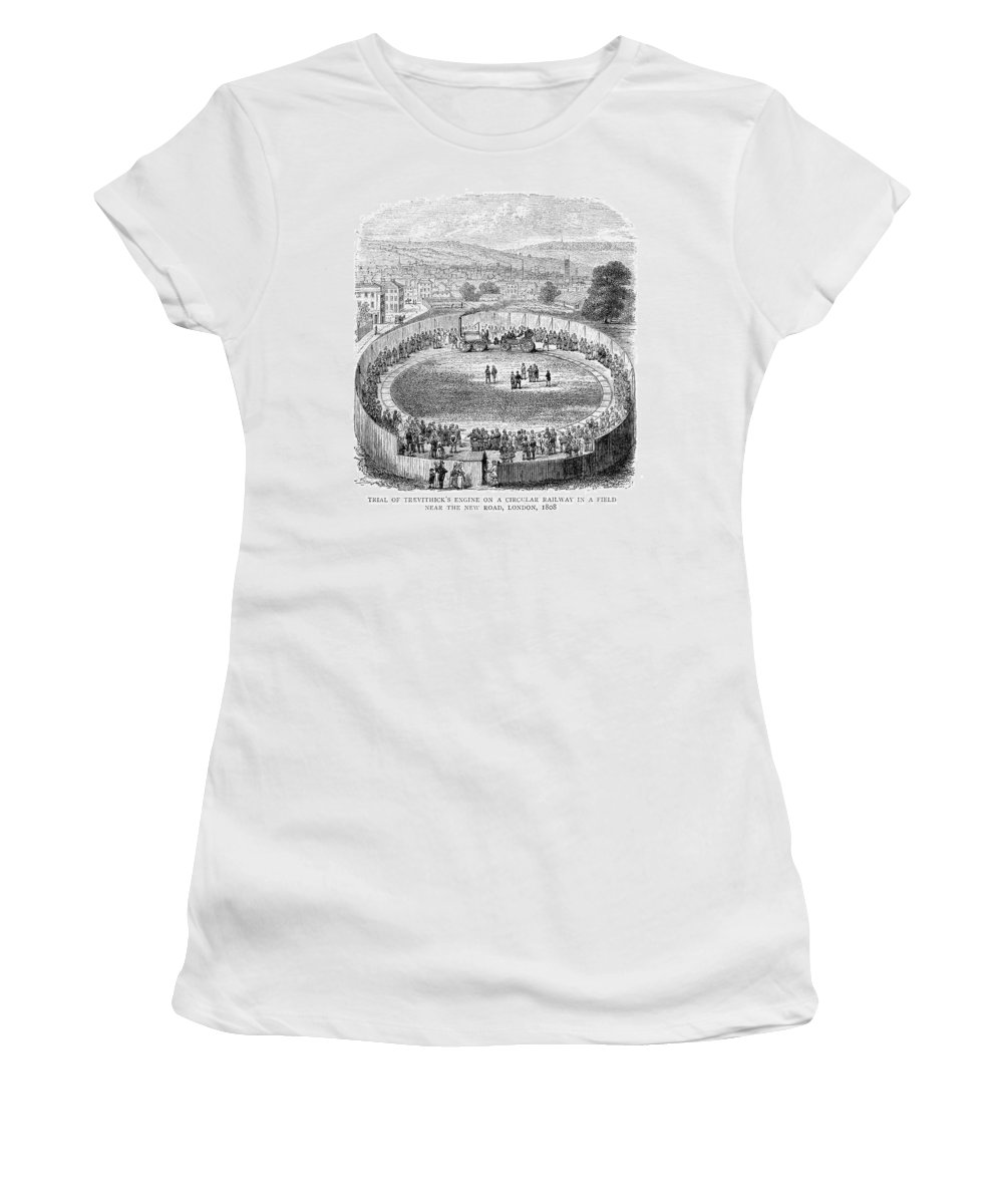 1808 Women's T-Shirt (Athletic Fit) featuring the painting Locomotive, 1808 by Granger