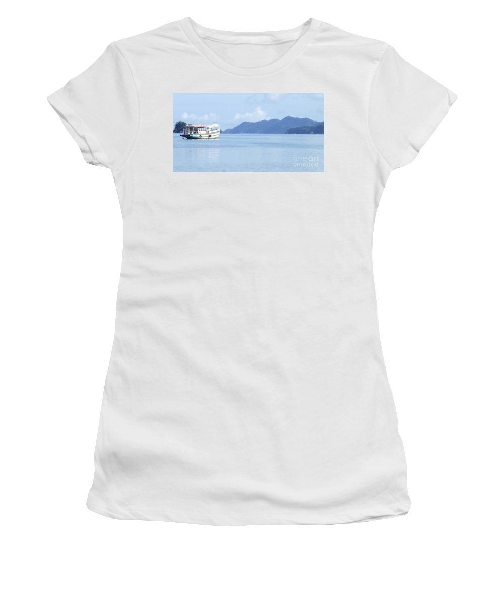 Boat Women's T-Shirt featuring the photograph Lonely Boat by Andrea Anderegg