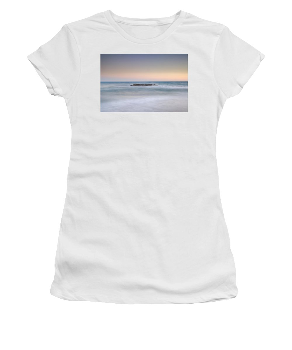 Island Women's T-Shirt (Athletic Fit) featuring the photograph Lonely Island by Guido Montanes Castillo