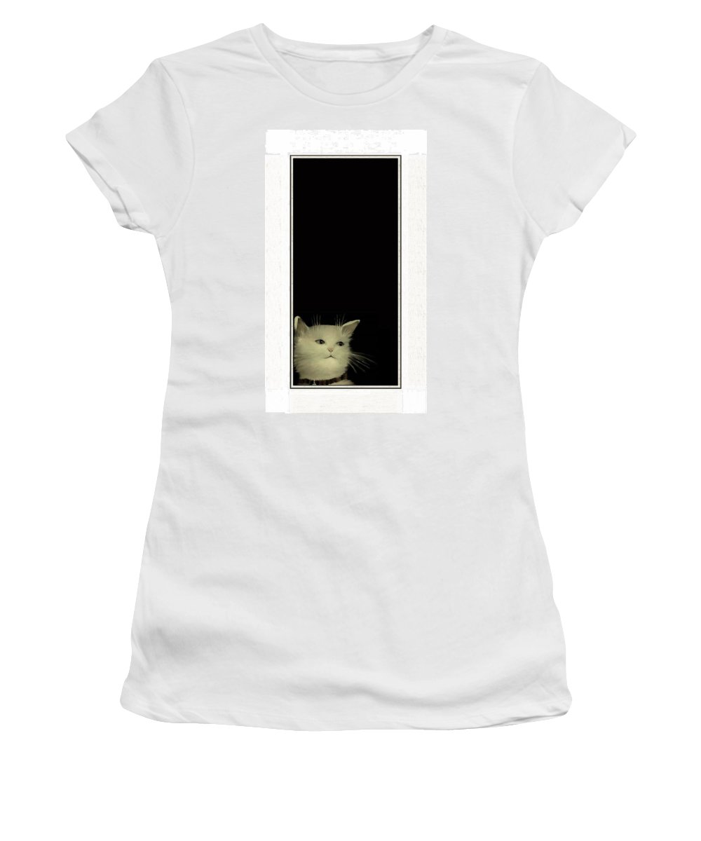 Diane Strain Women's T-Shirt featuring the painting Long In Thought by Diane Strain