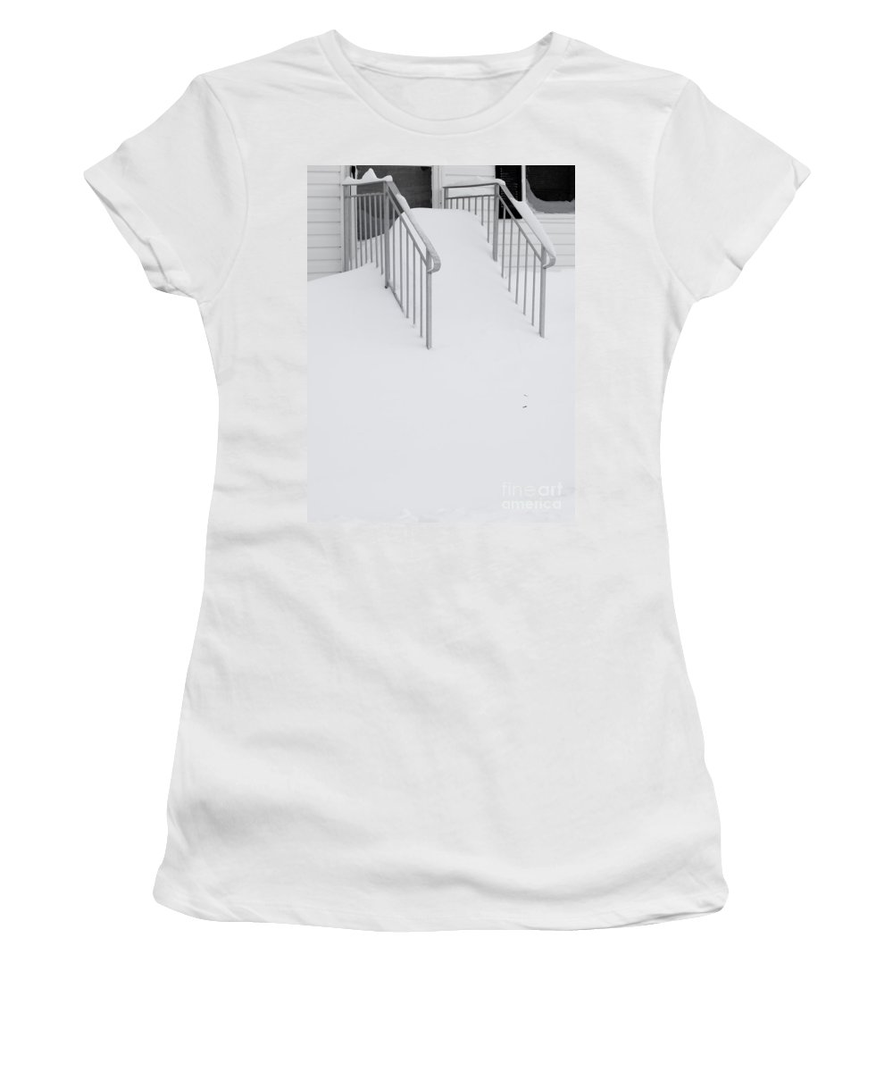 Snow Women's T-Shirt featuring the photograph Looks Like A Sled Hill by Tara Lynn