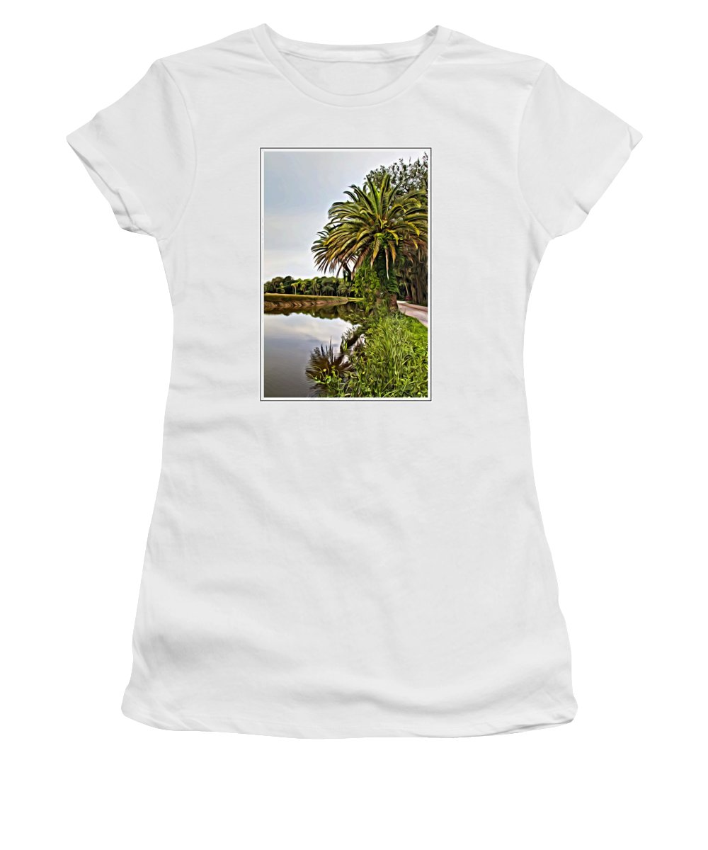 The Loop Women's T-Shirt featuring the photograph Loop Reflect by Alice Gipson