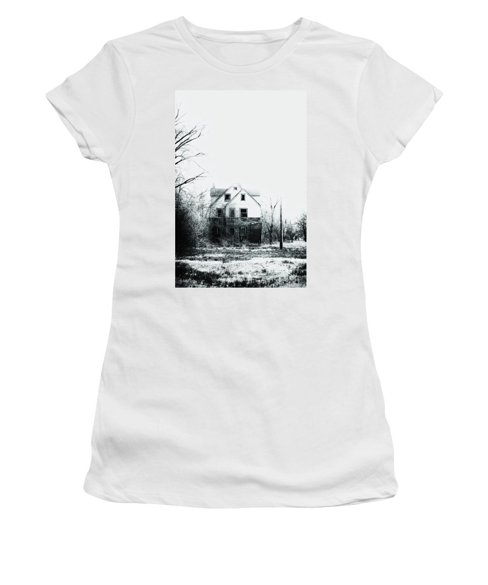 House Women's T-Shirt featuring the photograph Lost In Despair by Margie Hurwich