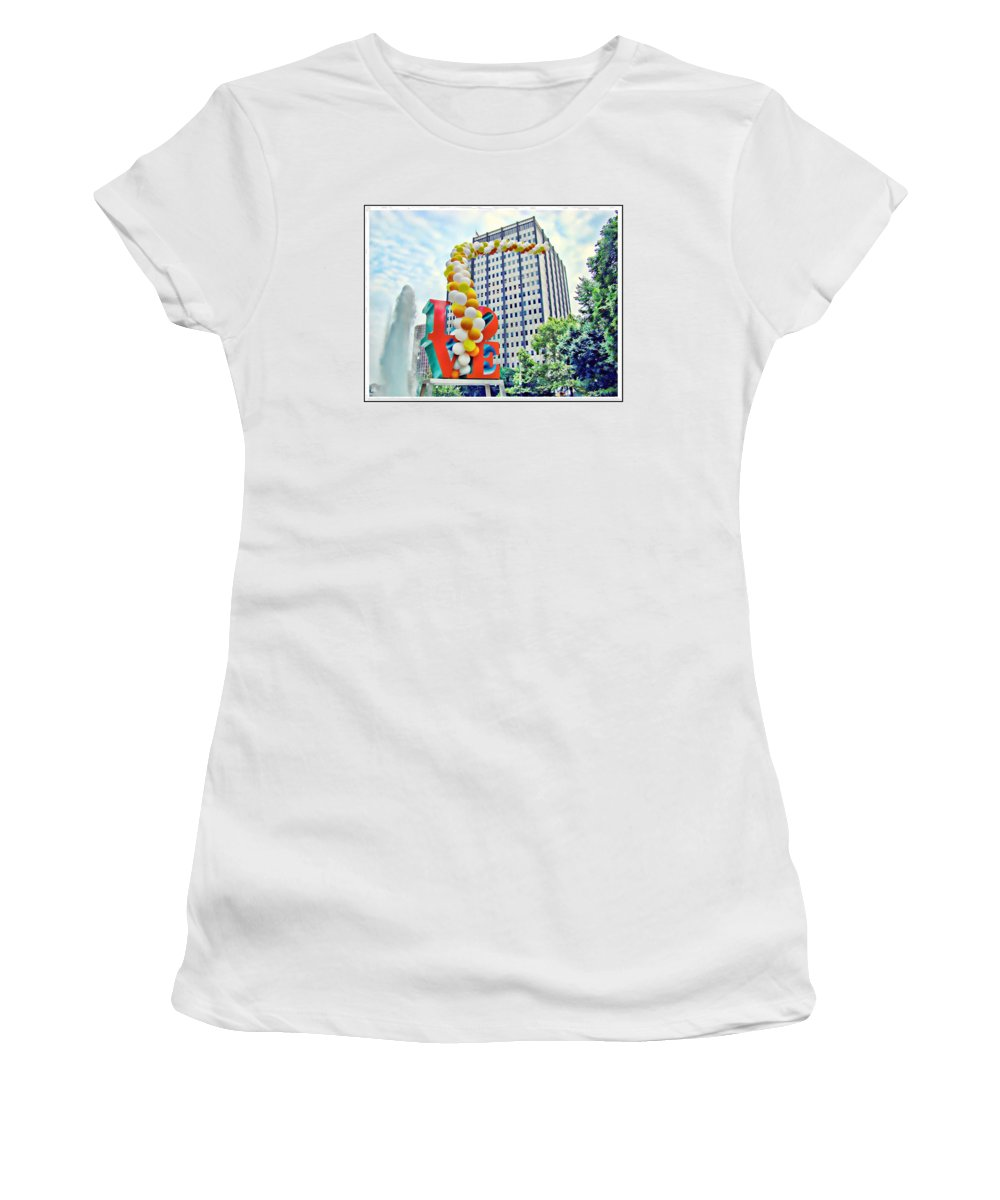 Love Park Women's T-Shirt featuring the photograph Love Balloons by Alice Gipson