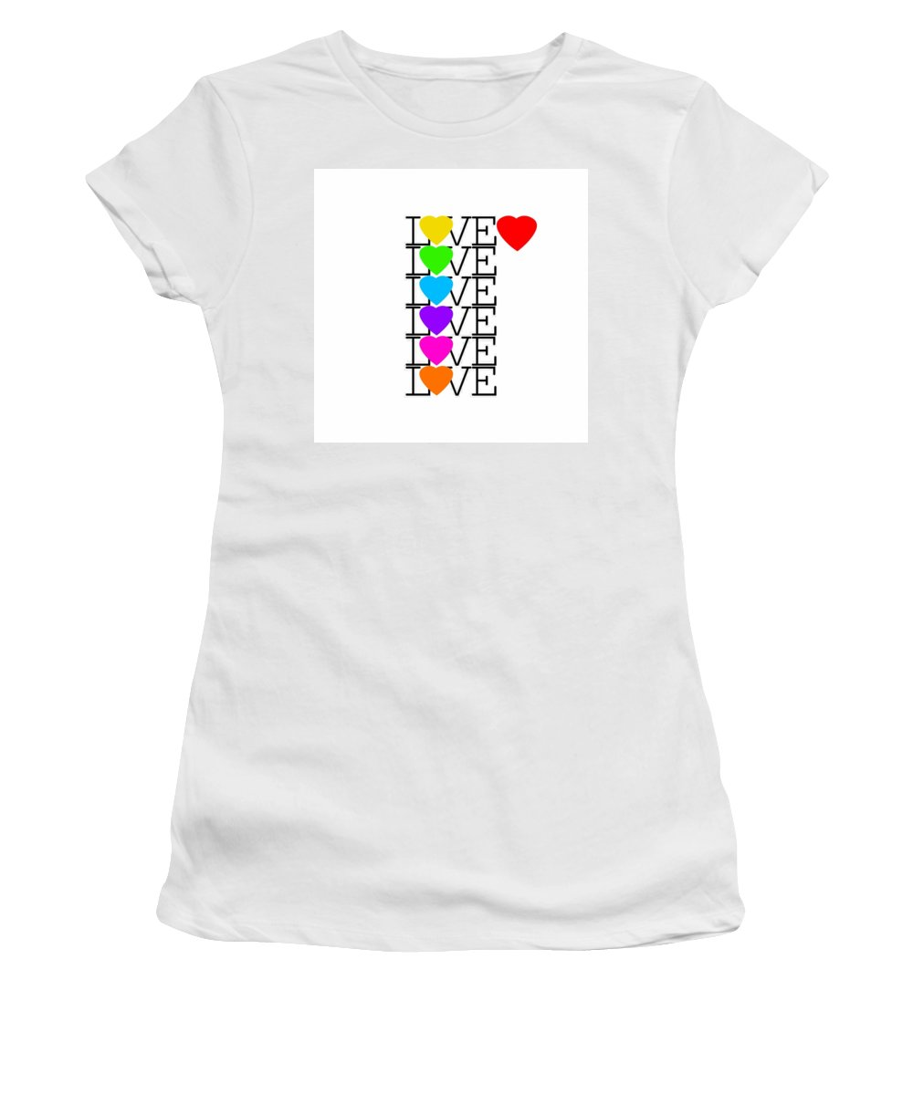 Love Women's T-Shirt featuring the painting Love Love Love by Charles Stuart