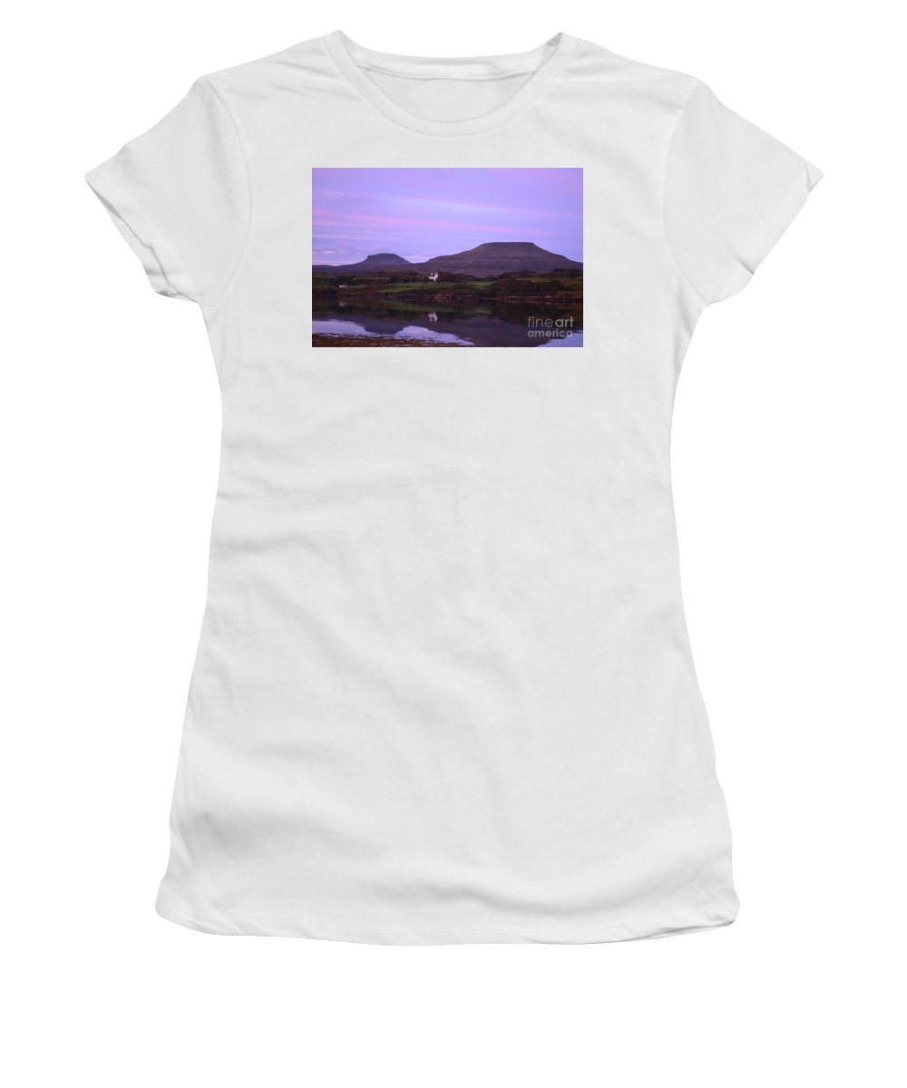 Macleod's Tables Women's T-Shirt (Athletic Fit) featuring the photograph Macleod's Tables With A Painted Sky by DejaVu Designs