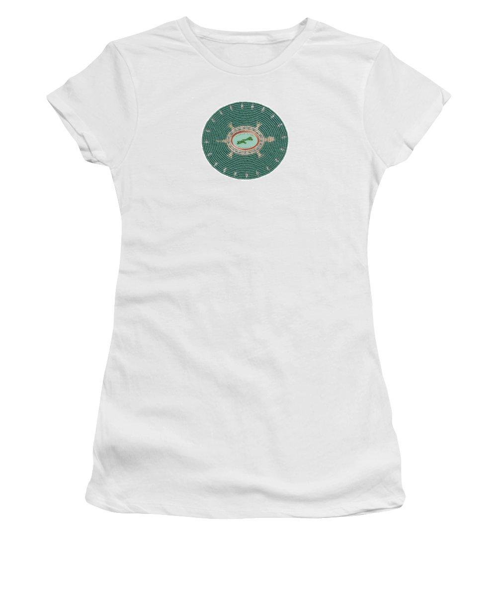 Beadwork Women's T-Shirt featuring the digital art Madeline Island by Douglas K Limon