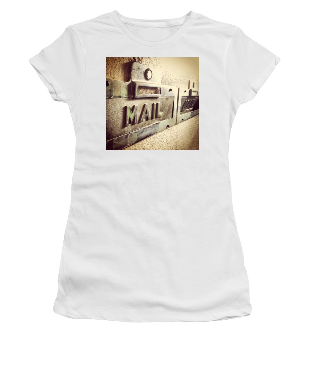 Mail Women's T-Shirt featuring the photograph Mail Lost In Time by Jana Nyberg