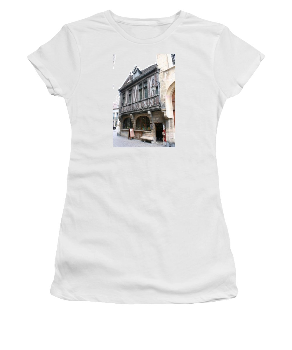 House Women's T-Shirt (Athletic Fit) featuring the photograph Maison Milliere - Dijon - France by Christiane Schulze Art And Photography
