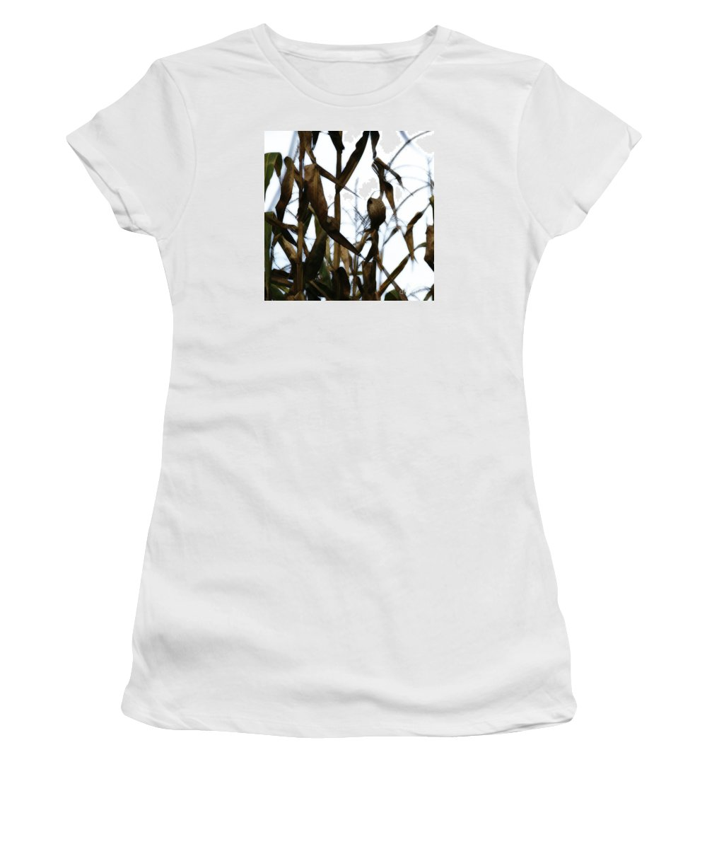 Maize Women's T-Shirt (Athletic Fit) featuring the photograph Maize by Linda Shafer