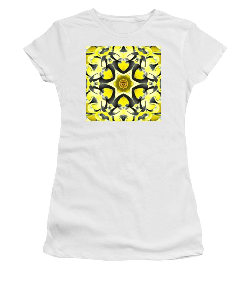 Sacredlife Mandalas Women's T-Shirt featuring the digital art Manipura Separation by Derek Gedney