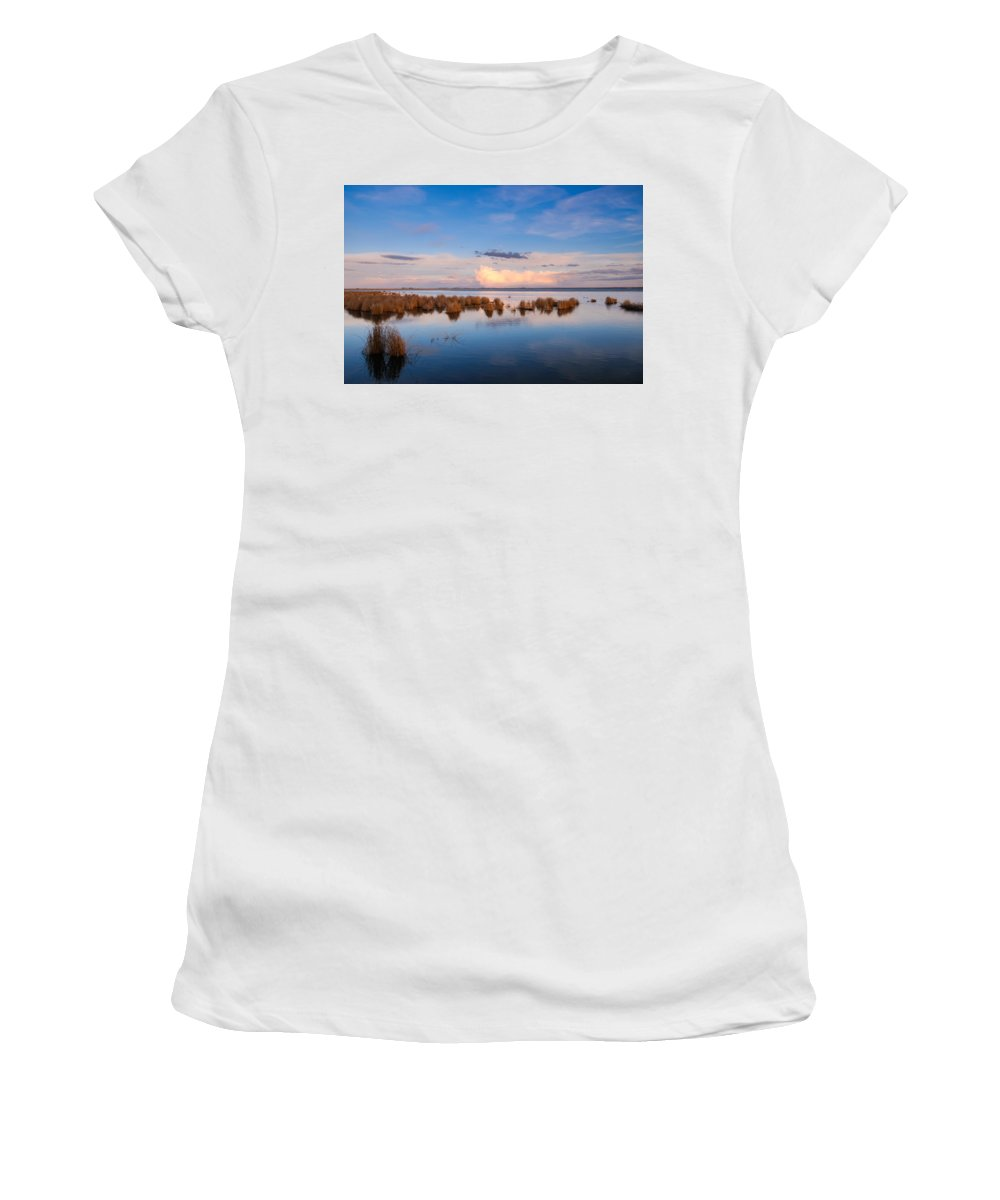 Alberta Women's T-Shirt (Athletic Fit) featuring the photograph Marsh Land by Brandon Smith