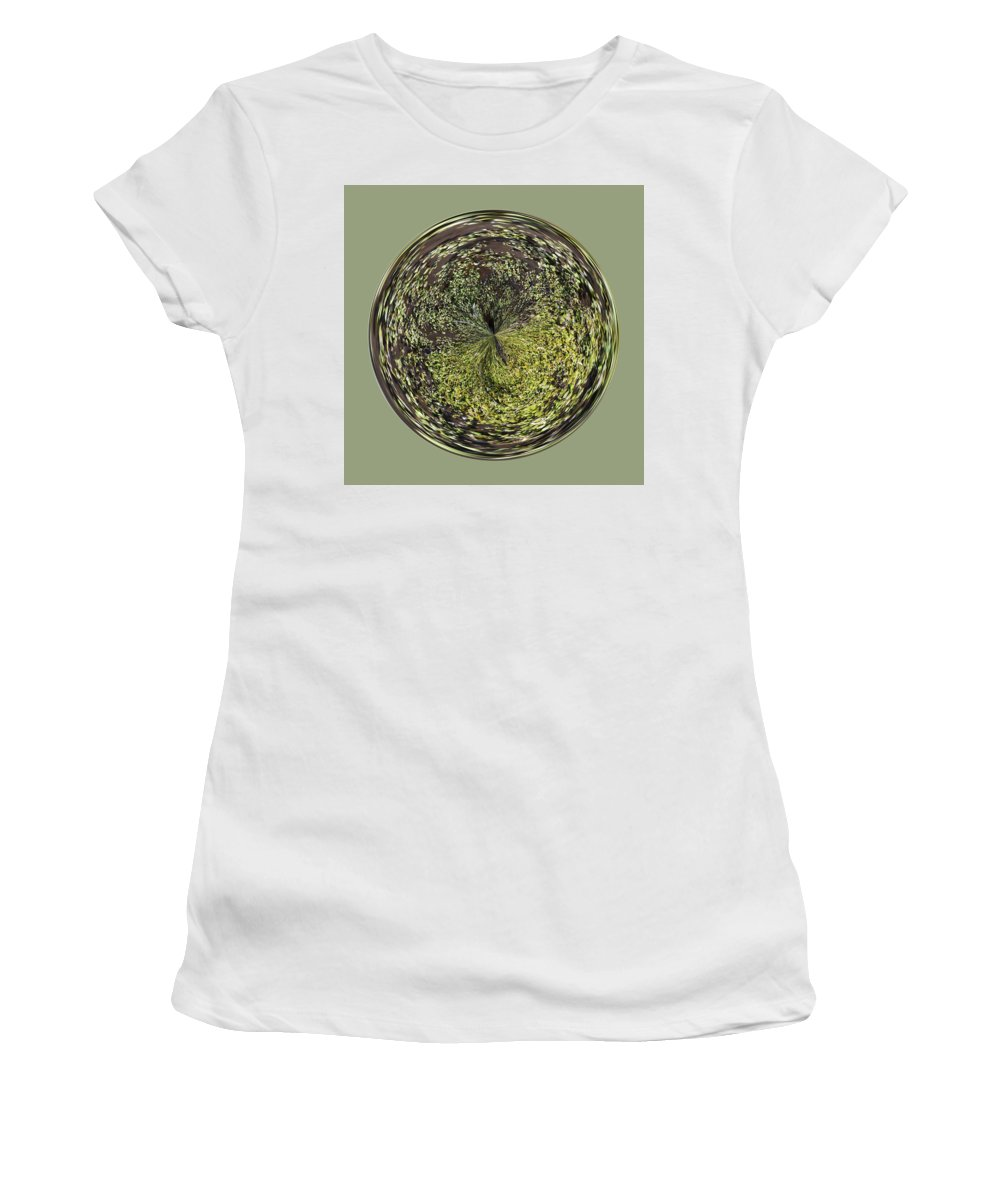 Orb Women's T-Shirt (Athletic Fit) featuring the photograph Marsh Orb by Brent Dolliver