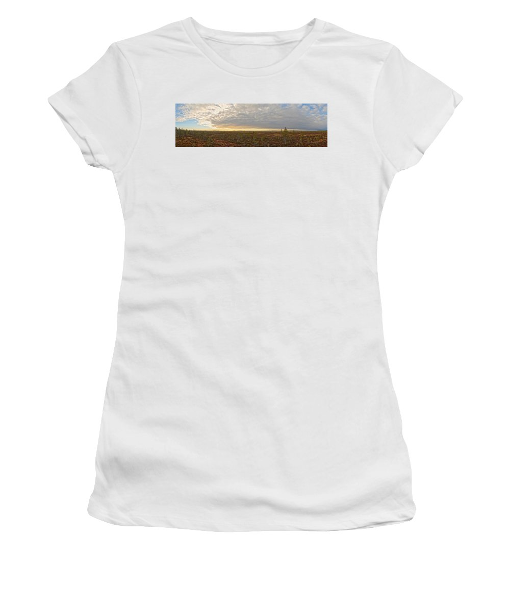Lehto Women's T-Shirt (Athletic Fit) featuring the photograph Martimoaapa Hdr by Jouko Lehto