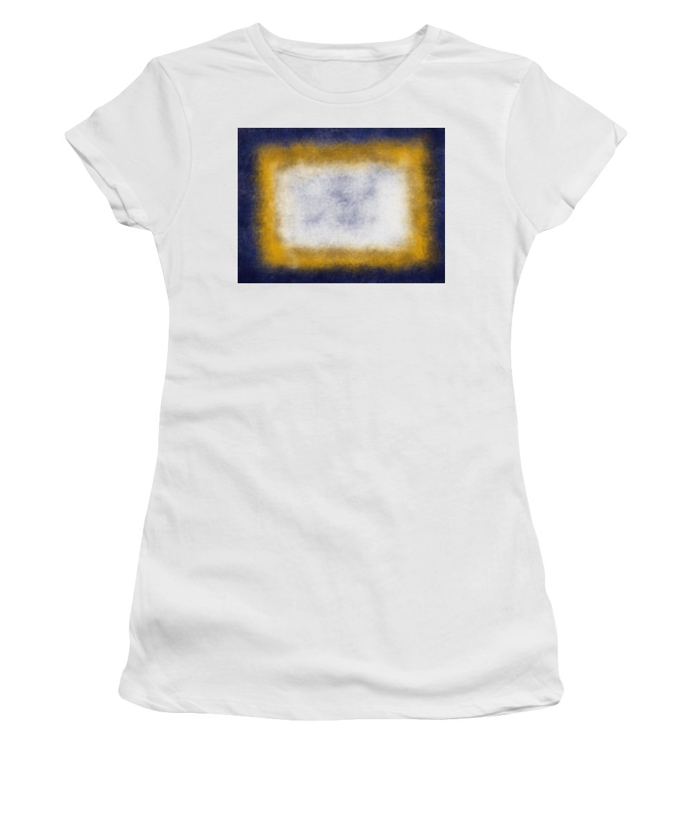 Yellow Women's T-Shirt (Athletic Fit) featuring the painting Massanutten Vii by Julie Niemela