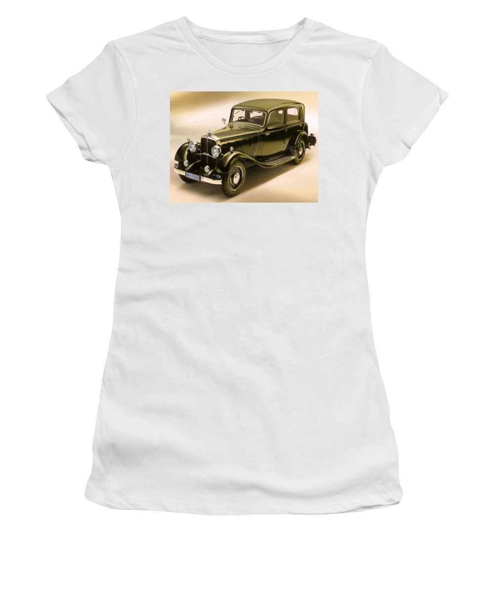 Maybach Women's T-Shirt (Athletic Fit) featuring the painting Maybach Car 6 by Jeelan Clark