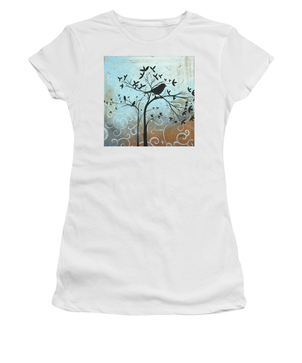 Decorative Women's T-Shirt (Athletic Fit) featuring the painting Melodic Dreams By Madart by Megan Duncanson