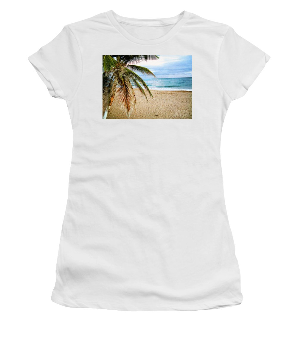 San Juan Women's T-Shirt (Athletic Fit) featuring the photograph Memories Of A Gentle Wave by Steve C Heckman