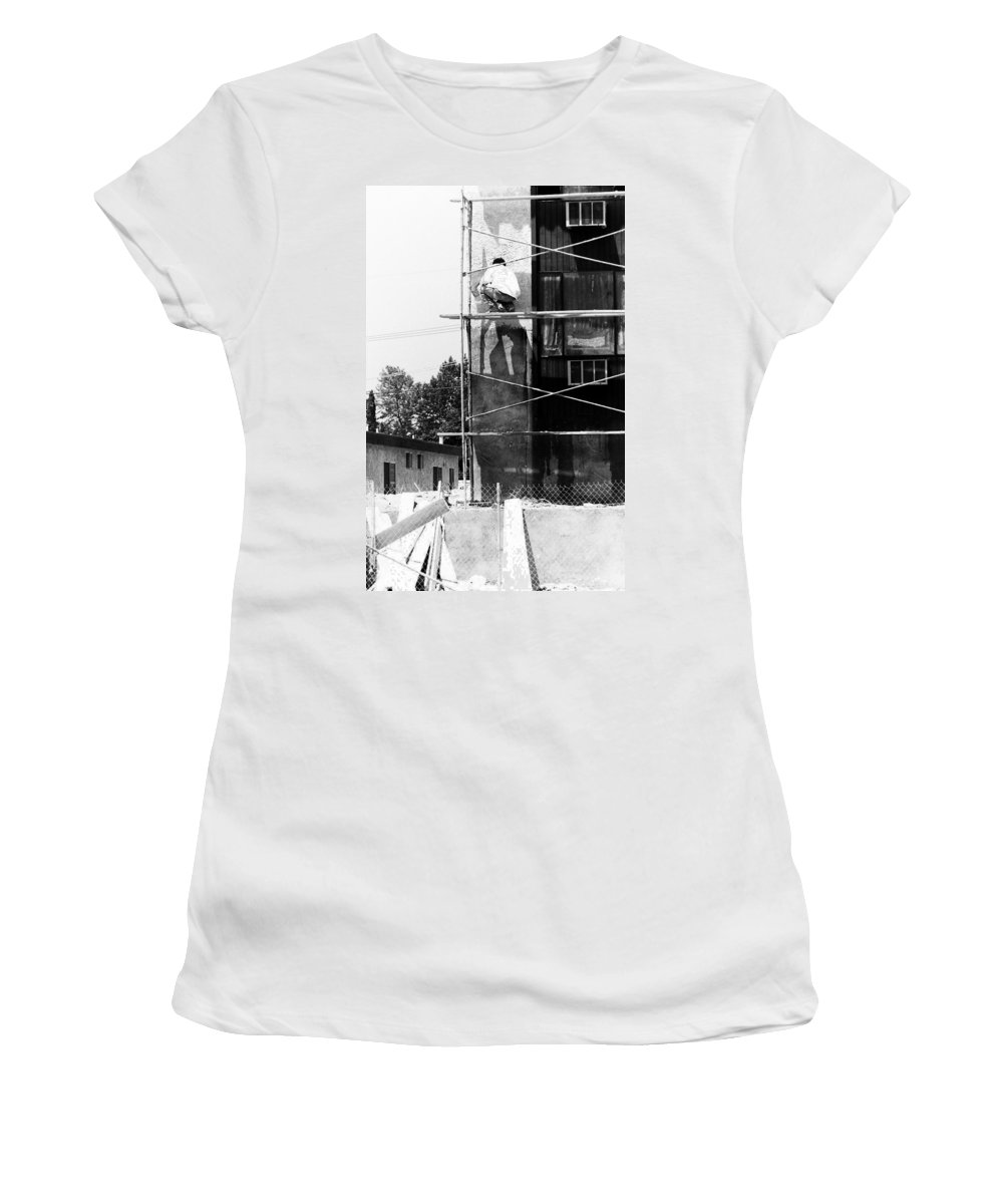 Painters Women's T-Shirt featuring the photograph Men At Work by Karl Rose