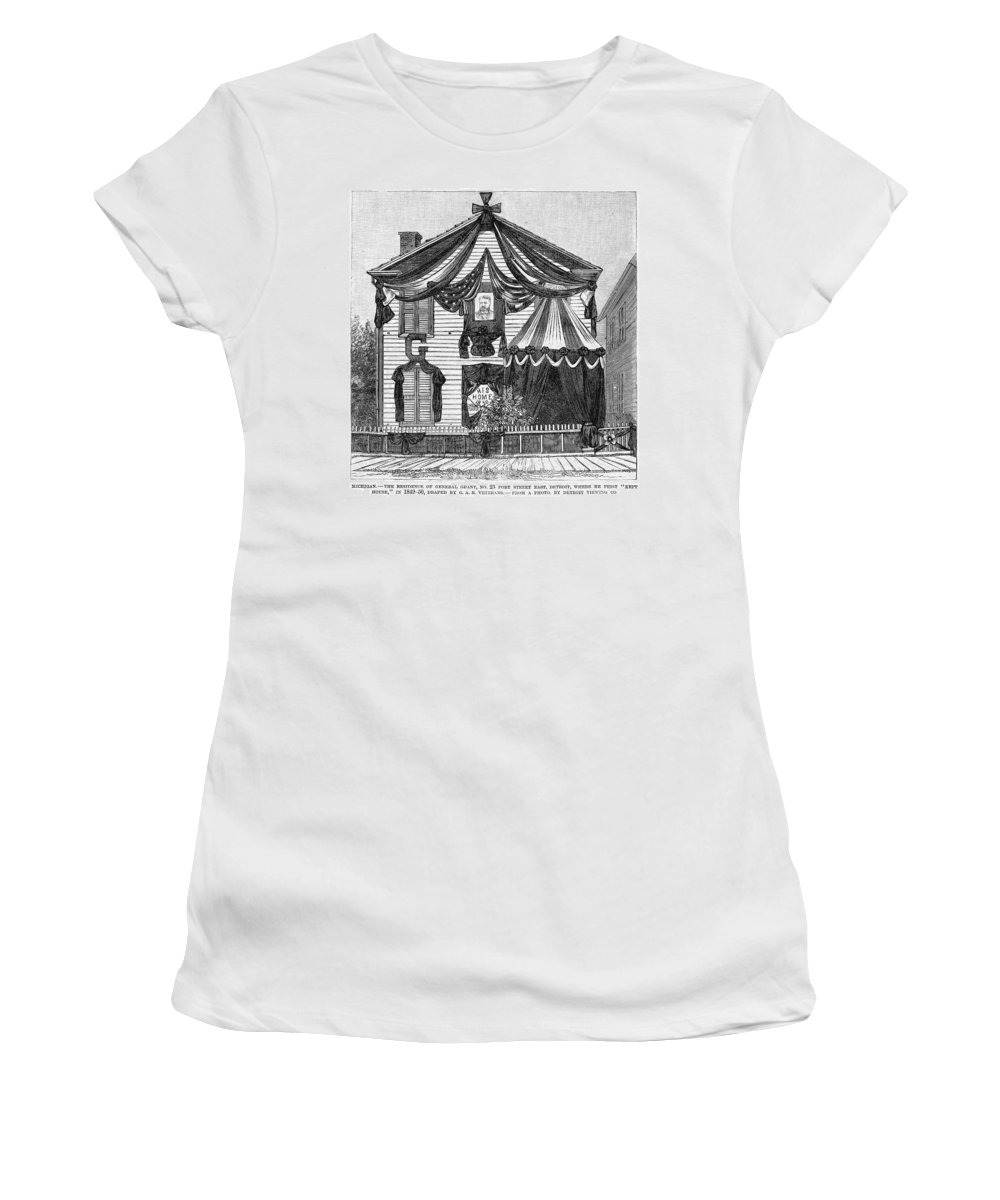 1885 Women's T-Shirt (Athletic Fit) featuring the painting Michigan Grant House by Granger