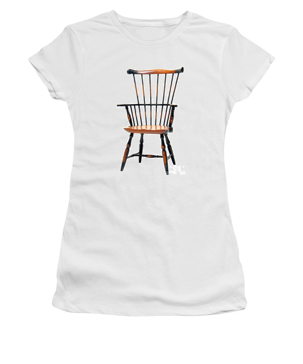 Furniture Women's T-Shirt featuring the photograph Miniature Windsor Armchair by Olivier Le Queinec