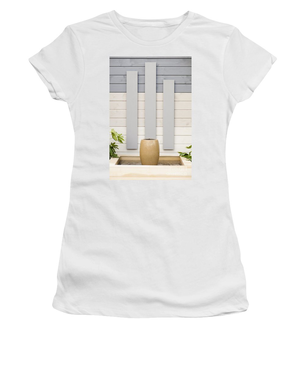 April Women's T-Shirt (Athletic Fit) featuring the photograph Minimal Gardening by Anne Gilbert