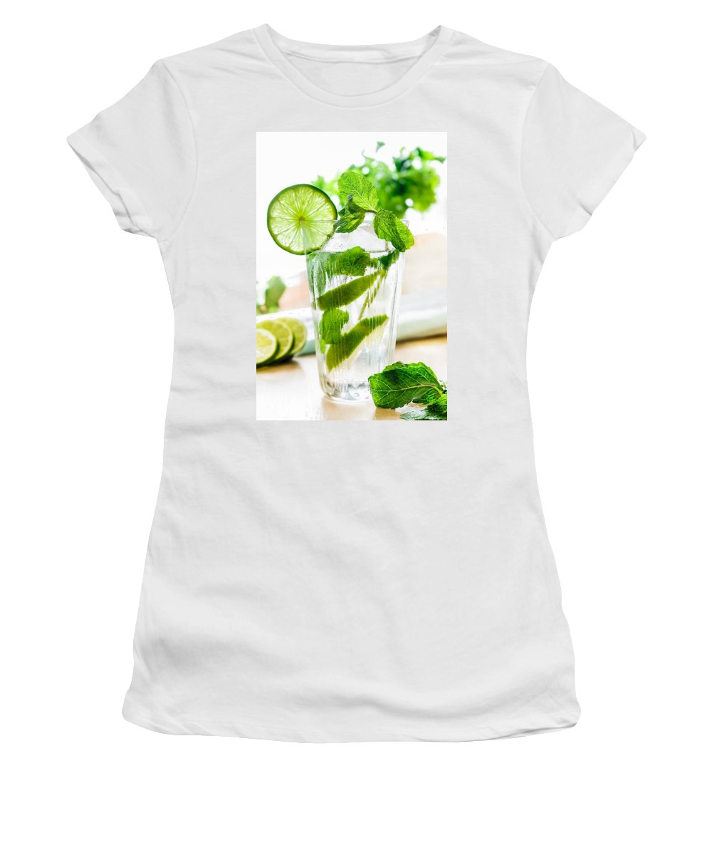 Ice Women's T-Shirt featuring the photograph Mojito by Alain De Maximy