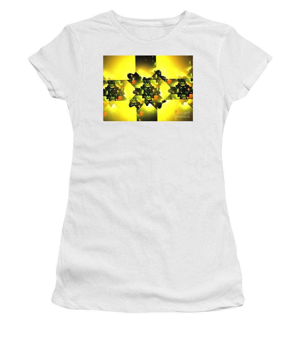 Apophysis Women's T-Shirt (Athletic Fit) featuring the digital art Moldavite by Kim Sy Ok