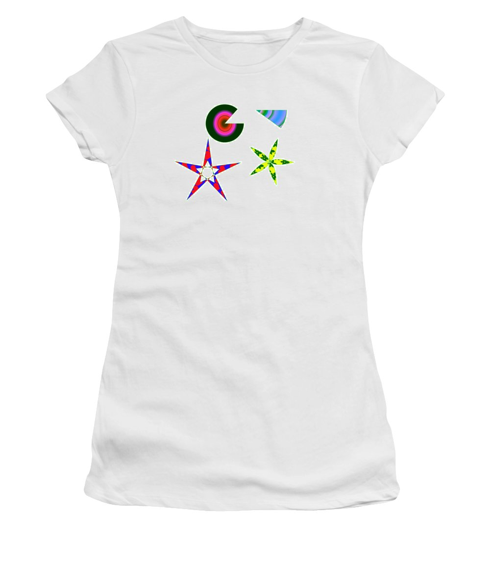 Abstract Women's T-Shirt (Athletic Fit) featuring the painting More Fun by Bruce Nutting